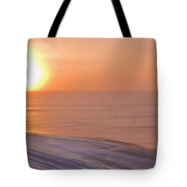 The Setting Sun Shining Through Tote Bag by Kevin Smith