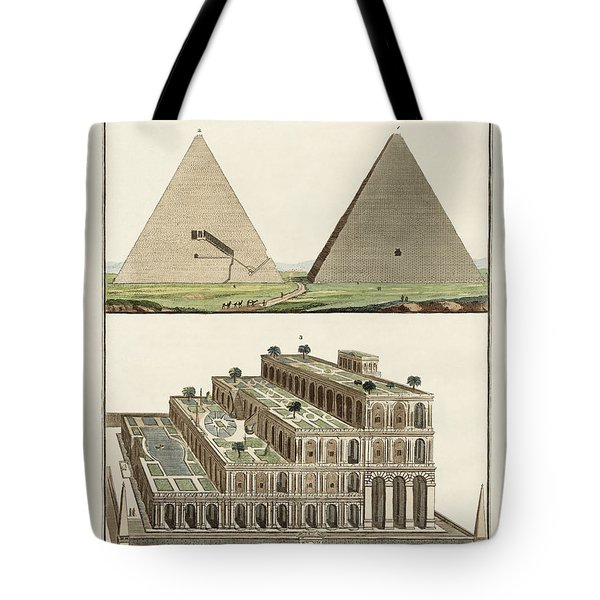 The Seven Wonders Of The World Tote Bag by Splendid Art Prints
