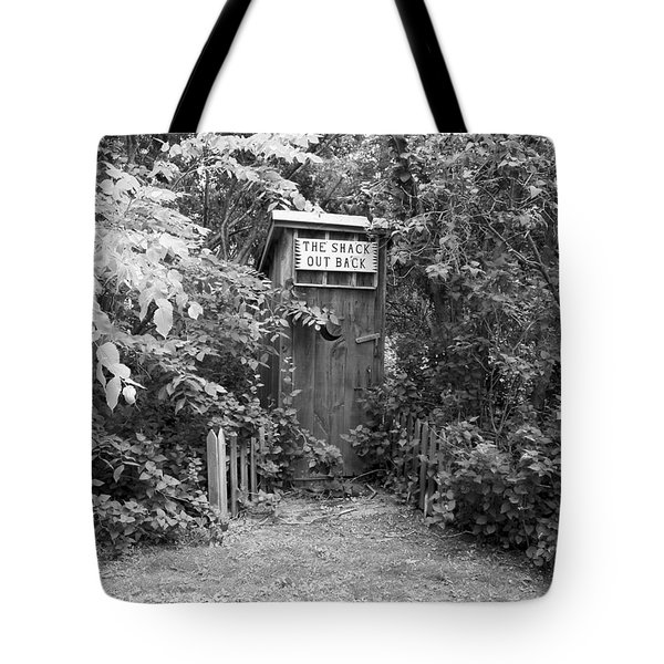 The Shack Out Back In Black And White Tote Bag