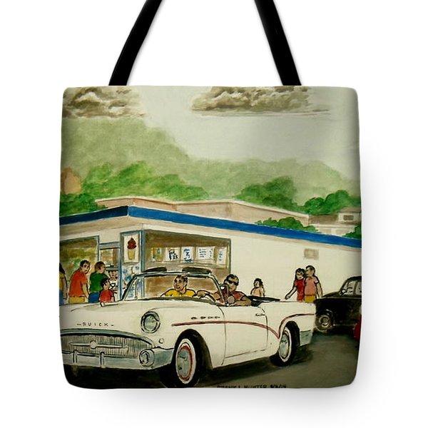 The Shake Shoppe Portsmouth Ohio 1960 Tote Bag