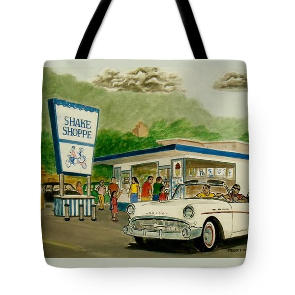 The Shake Shoppe Portsmouth Ohio 1960 Tote Bag by Frank Hunter