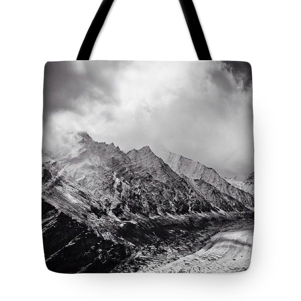 The Sharp Edges Of The Himalayas Tote Bag