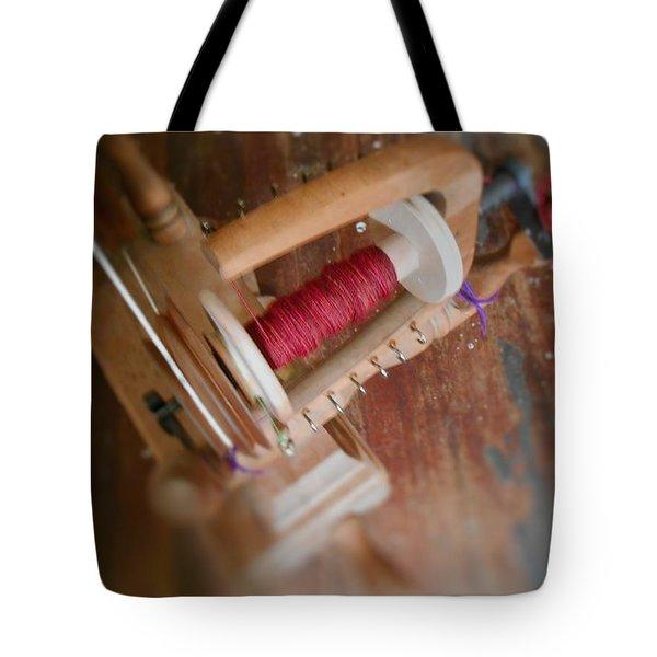 Tote Bag featuring the digital art The Shawl Yarn by Aliceann Carlton