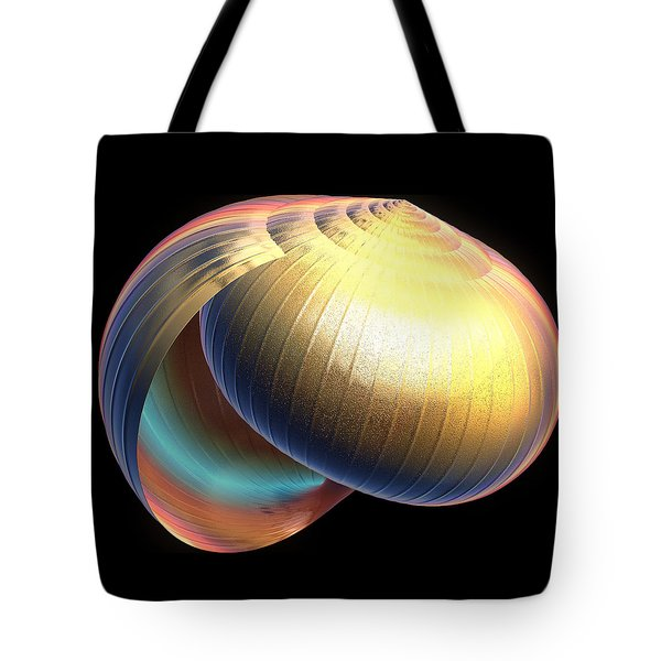 Tote Bag featuring the digital art The Shell by Rosalie Scanlon