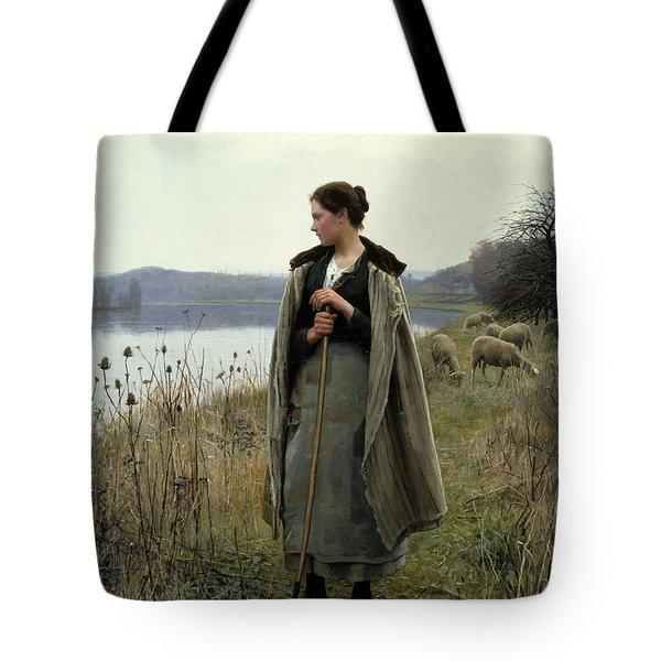The Shepherdess Of Rolleboise Tote Bag