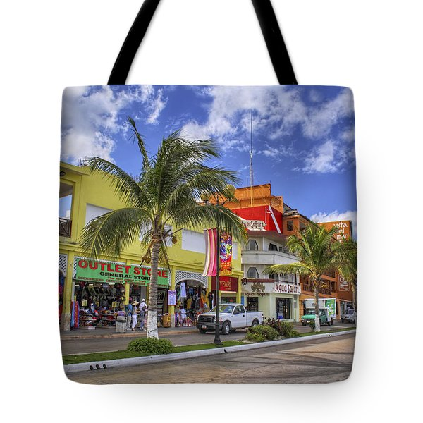 The Shops Of Cozumel Tote Bag