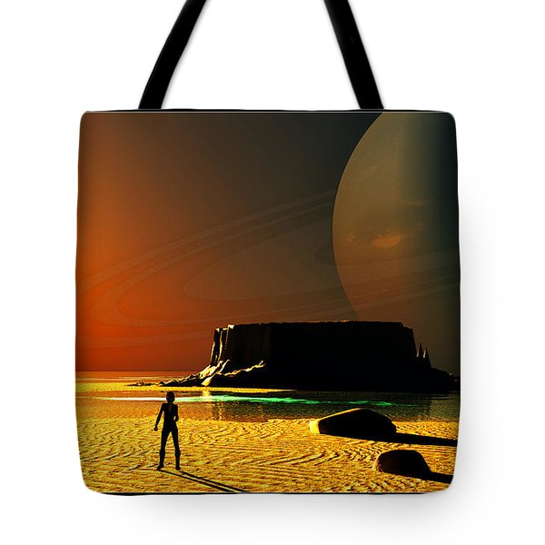 The Shore Of The Cupric Seas... Tote Bag by Tim Fillingim