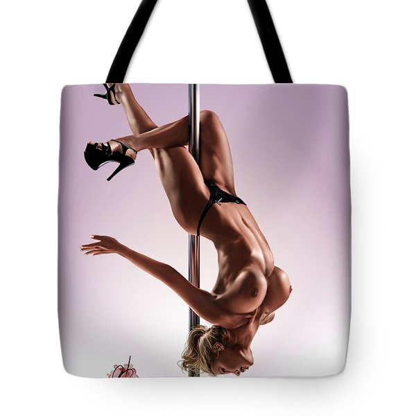Tote Bag featuring the painting The Show by Pete Tapang