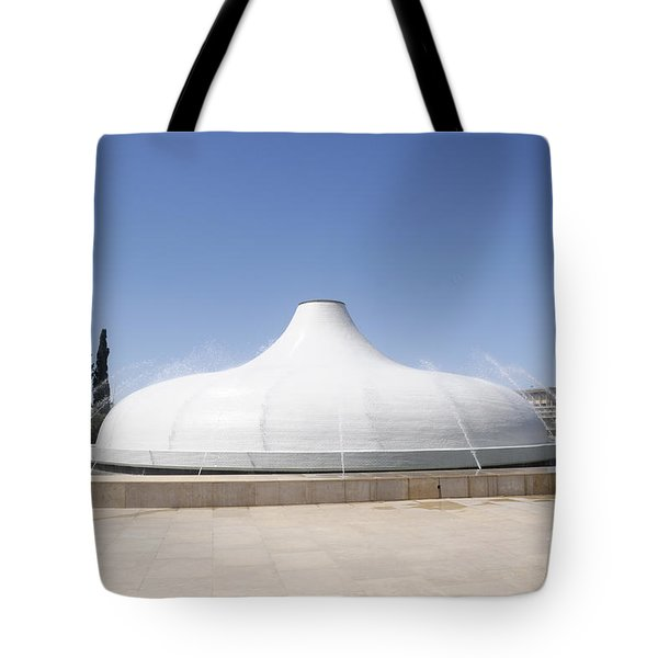 The Shrine Of The Book Tote Bag
