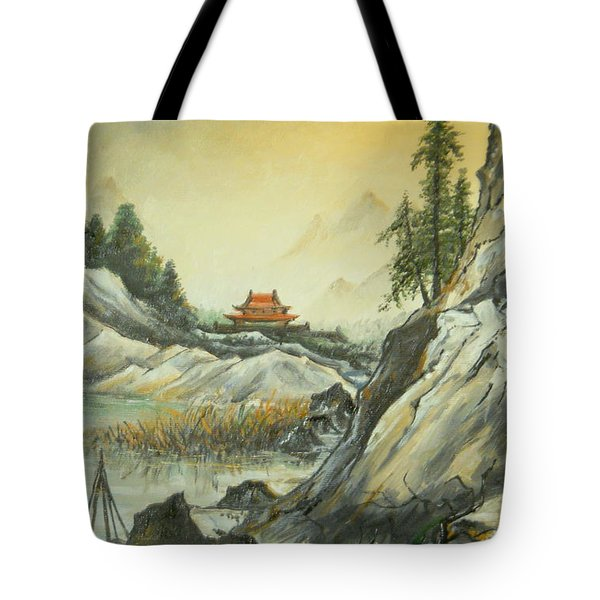 The Silence In The Mountains Tote Bag