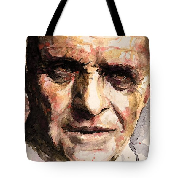 Tote Bag featuring the painting The Silence Of The Lambs by Laur Iduc