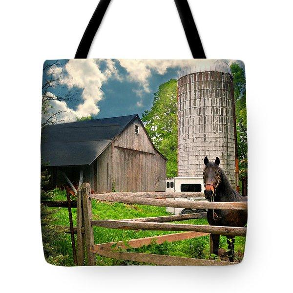 The Silo Horse Tote Bag