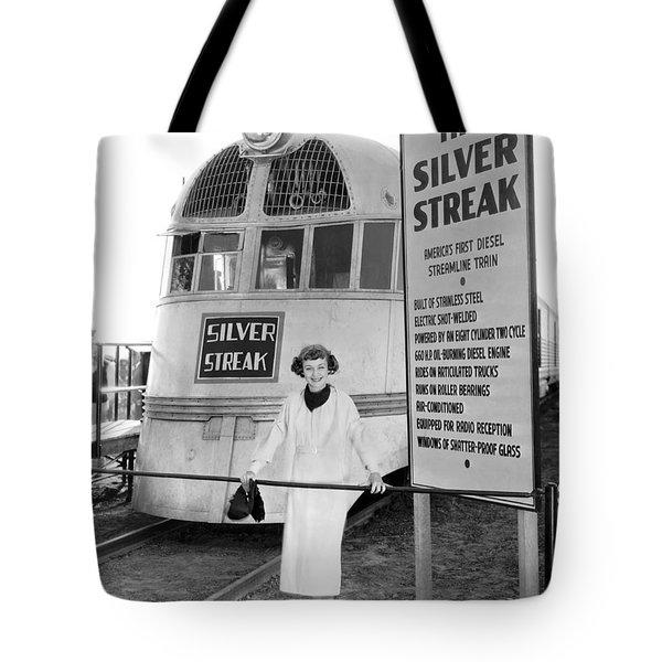 The Silver Streak Train Tote Bag