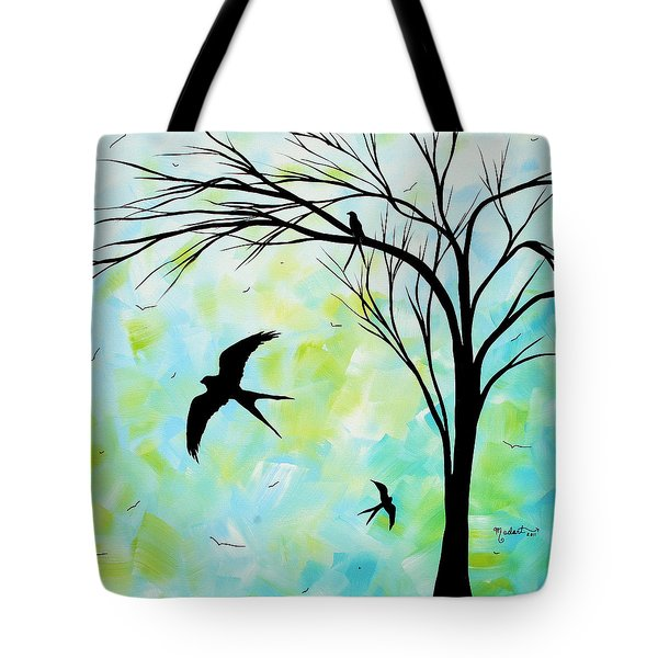 The Simple Life By Madart Tote Bag by Megan Duncanson