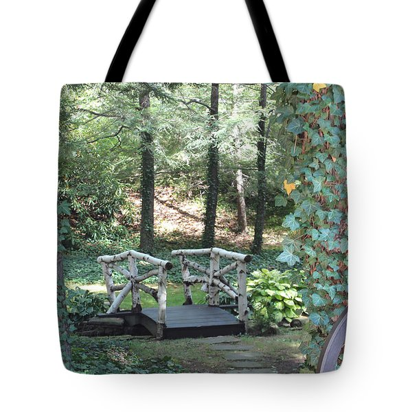Tote Bag featuring the photograph The Path by Debra     Vatalaro