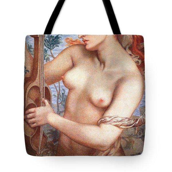 The Siren Tote Bag by Dante Charles Gabriel Rossetti