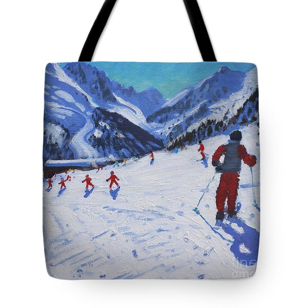 The Ski Instructor Tote Bag by Andrew Macara