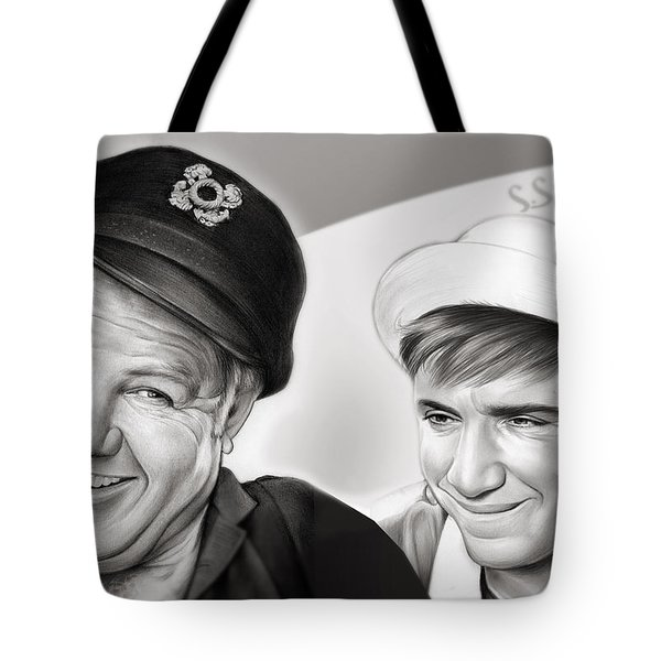 The Skipper And Gilligan Tote Bag by Greg Joens