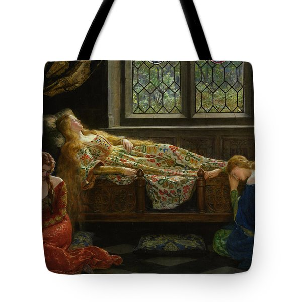 The Sleeping Beauty Tote Bag by John Collier