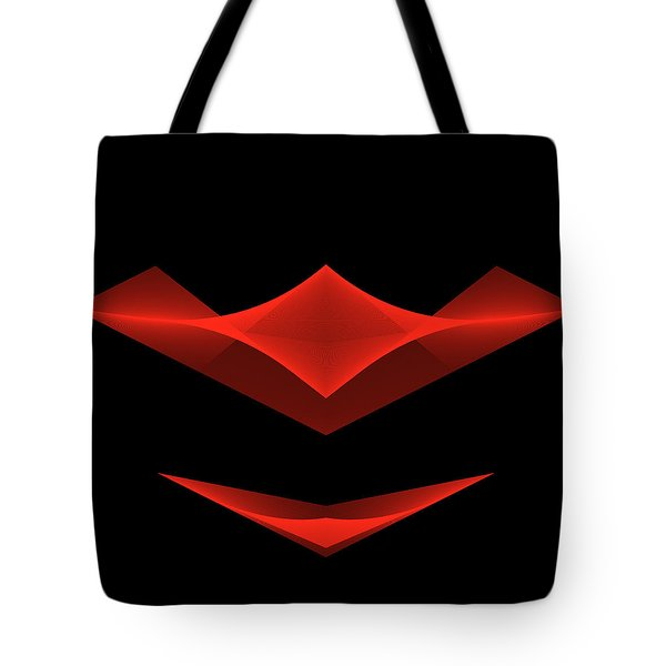 Tote Bag featuring the digital art The Smile by Karo Evans