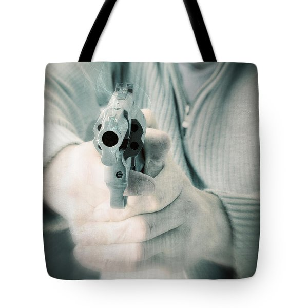 The Smoking Gun Tote Bag by Edward Fielding
