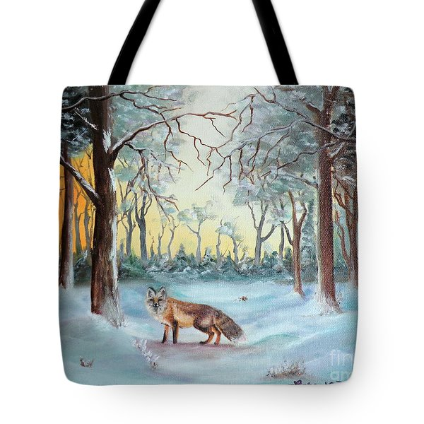 The Sneaky Red Fox Tote Bag