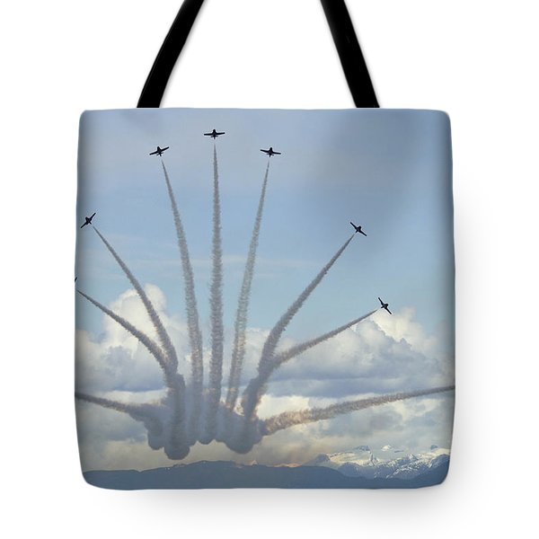 The Snowbirds In High Gear Tote Bag by Bob Christopher