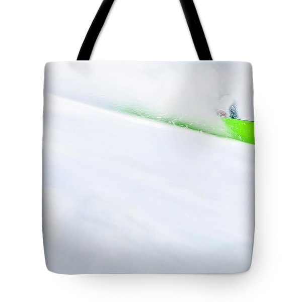 The Snowboarder And The Snow Tote Bag
