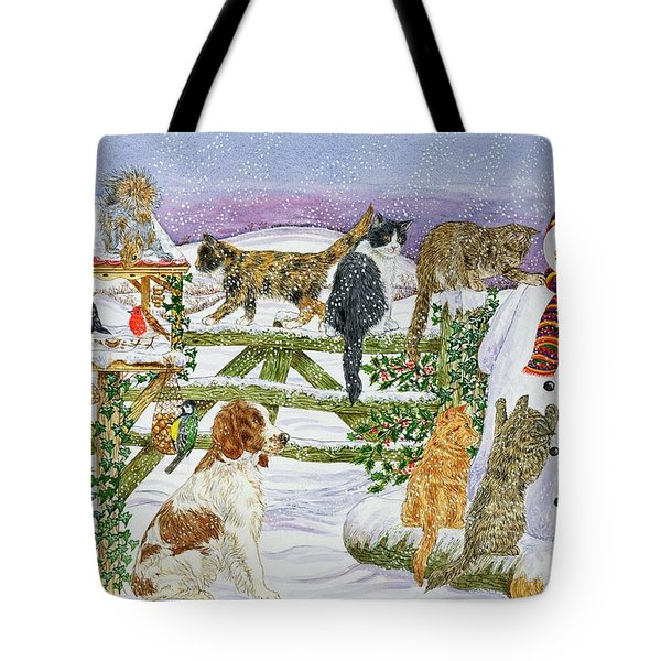 The Snowman And His Friends  Tote Bag