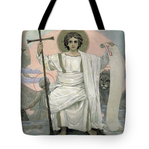 The Son Of God   The Word Of God Tote Bag by Victor Mikhailovich Vasnetsov