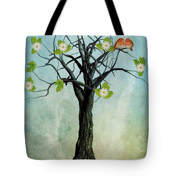 The Song Of Spring Tote Bag by John Edwards