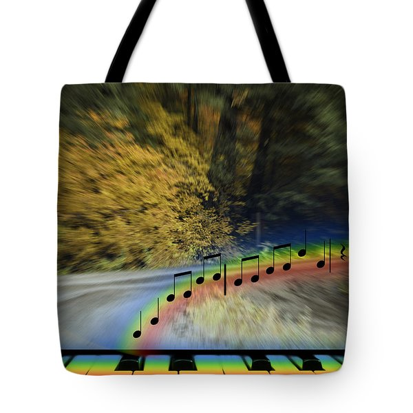 The Song That Keeps Repeating In My Head Tote Bag by Diane Schuster