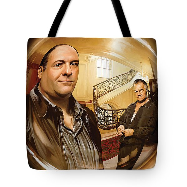 Tote Bag featuring the painting The Sopranos  Artwork 1 by Sheraz A