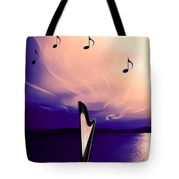 The Sounds Of Sunset Tote Bag by Eddie Eastwood