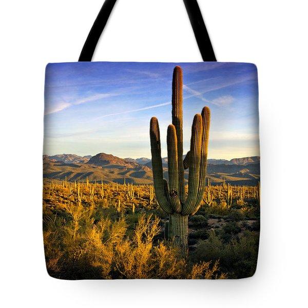 The Southwest Golden Hour  Tote Bag by Saija  Lehtonen