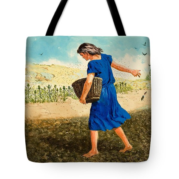 The Sower Of The Seed Tote Bag by Clive Uptton