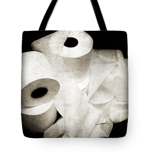 The Spare Rolls 2 - Toilet Paper - Bathroom Design - Restroom - Powder Room Tote Bag by Andee Design