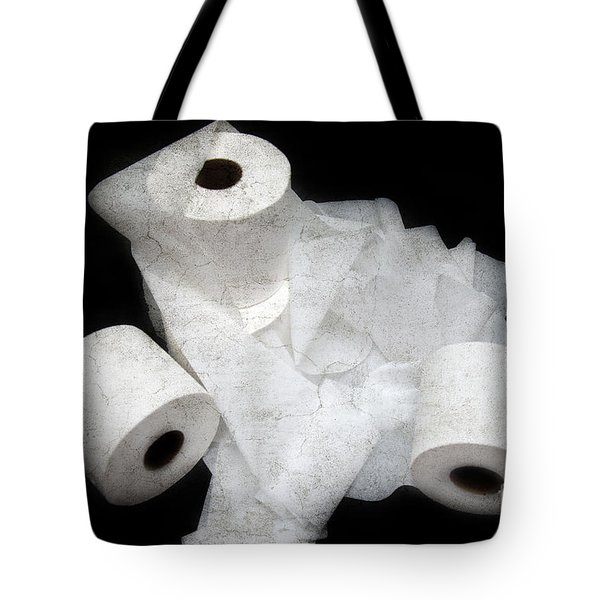 The Spare Rolls 3 - Toilet Paper - Bathroom Design - Restroom - Powder Room Tote Bag by Andee Design
