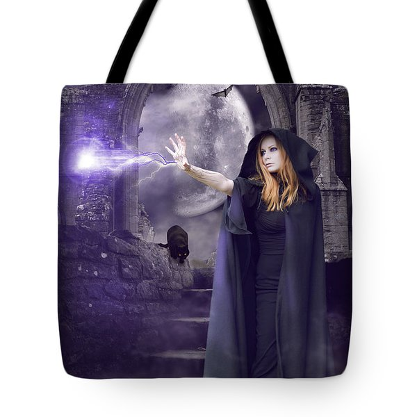 The Spell Is Cast Tote Bag by Linda Lees