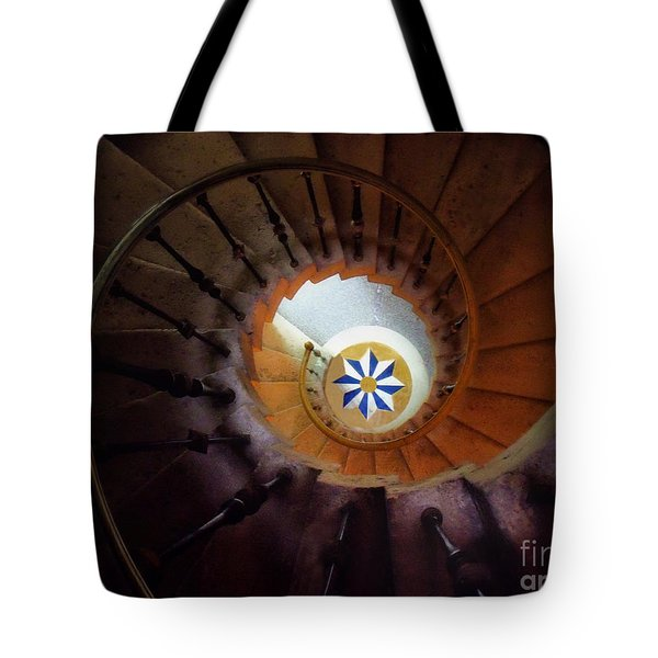 The Spiral Staircase Of Villa Vizcaya Tote Bag by Mike Nellums