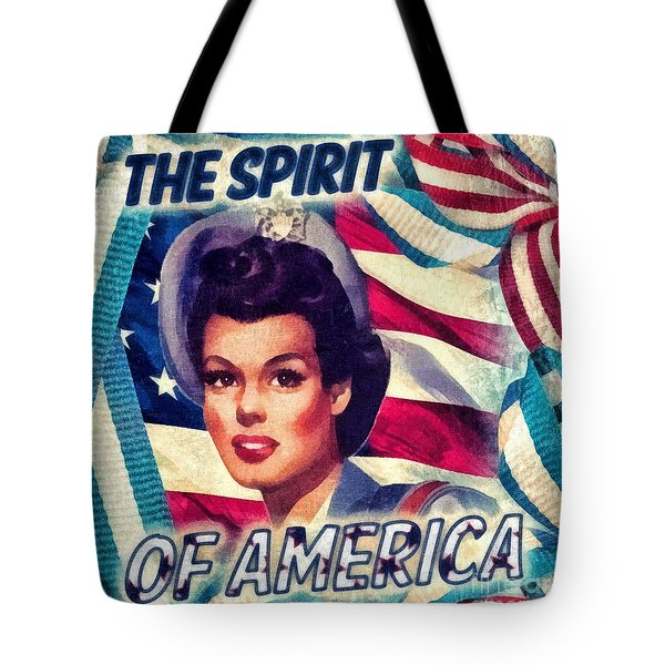 The Spirit Of America Tote Bag by Mo T