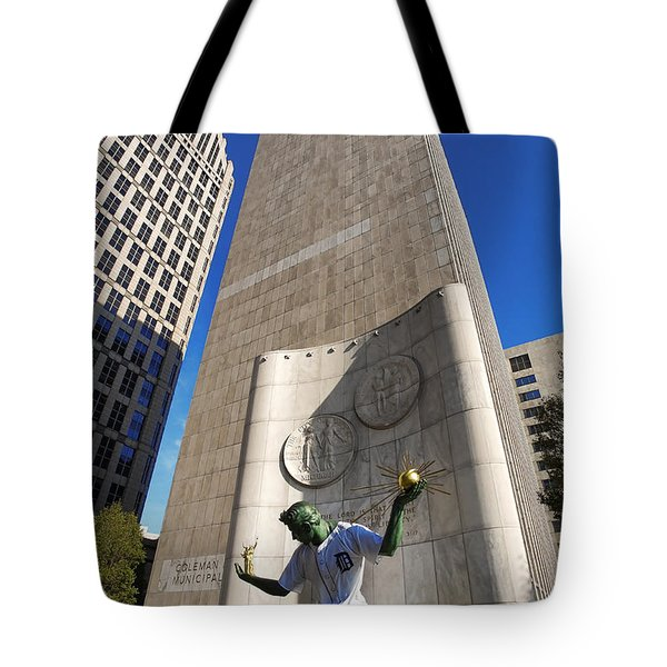 The Spirit Of Detroit Tigers 2 Tote Bag by Gordon Dean II