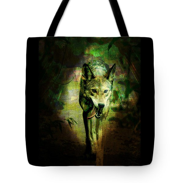 Tote Bag featuring the digital art The Spirit Of The Wolf by Absinthe Art By Michelle LeAnn Scott