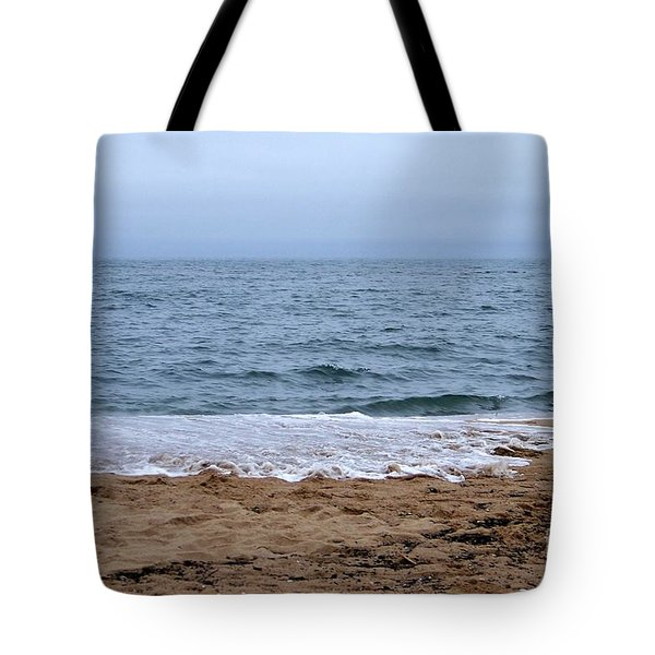 The Splash Over On A Sandy Beach Tote Bag by Eunice Miller