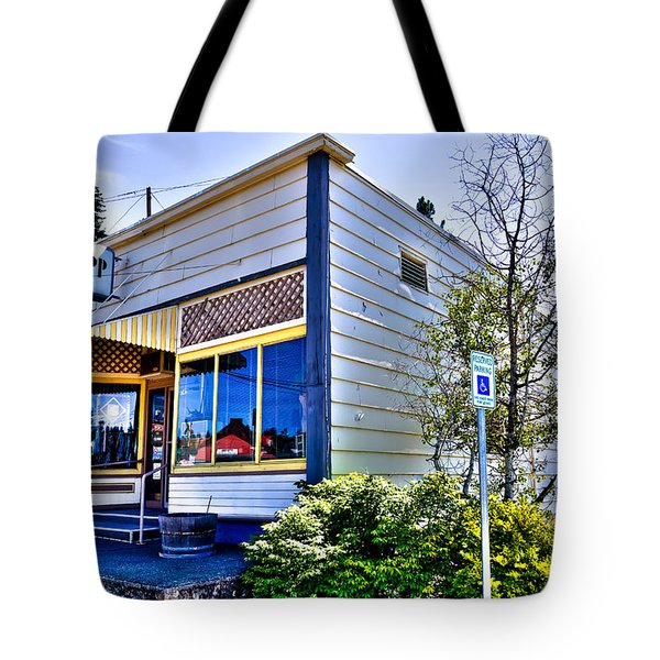 The Spot Shop Cleaners - Pullman Washington Tote Bag by David Patterson
