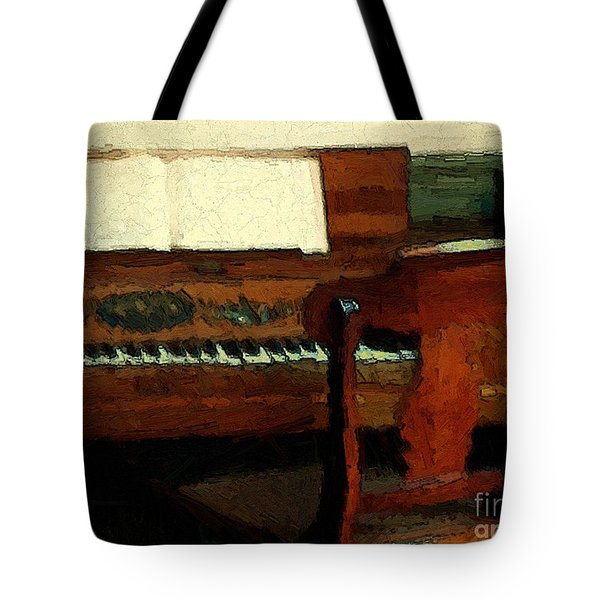 The Square Piano Tote Bag by RC DeWinter
