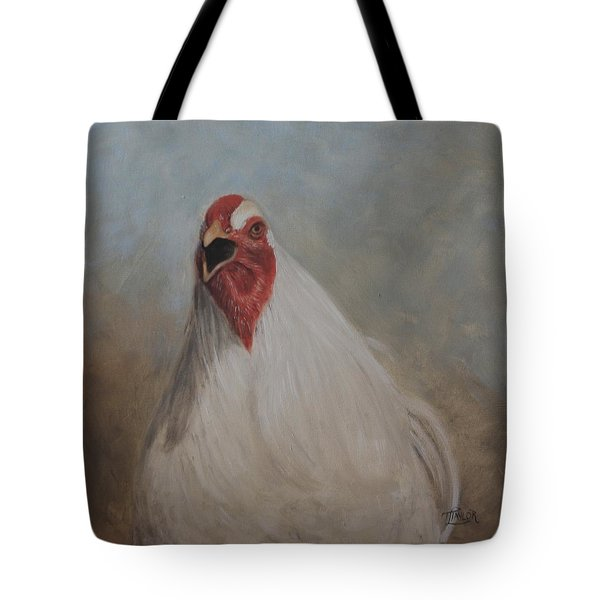 Tote Bag featuring the painting The Squawker by Tammy Taylor