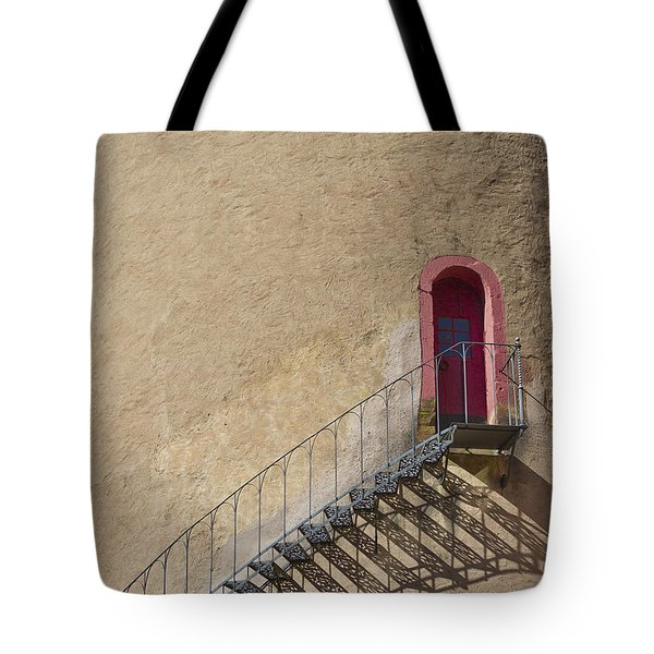 The Staircase To The Red Door Tote Bag by Heiko Koehrer-Wagner