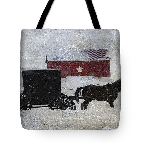 The Star Barn In Winter Tote Bag