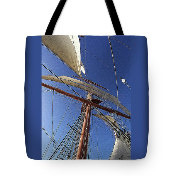 The Star Of India. Mast And Sails Tote Bag
